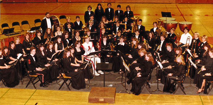 Charlie Buck 1993 with JHS music students